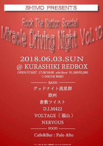 SHIMO Presents「Rock The Nation Special-Miracle Driving Night vol.10-」
